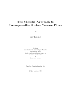 The Mimetic Approach to Incompressible Surface Tension Flows